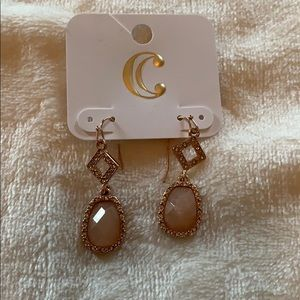 Rose Gold Charming Charlie Never Worn Earrings